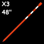 72 ea...X3™ Reflective Markers...$.99 each    (Optic Orange)